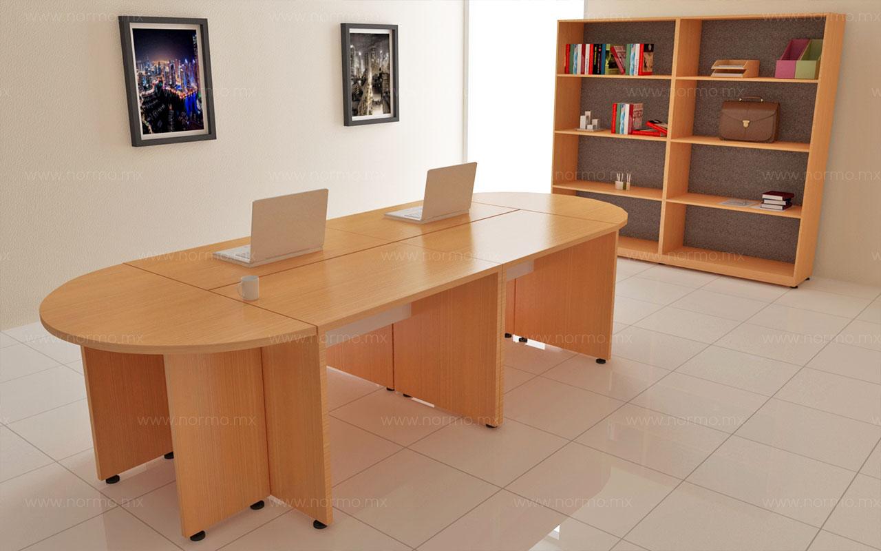 mesa de juntas en melamina
