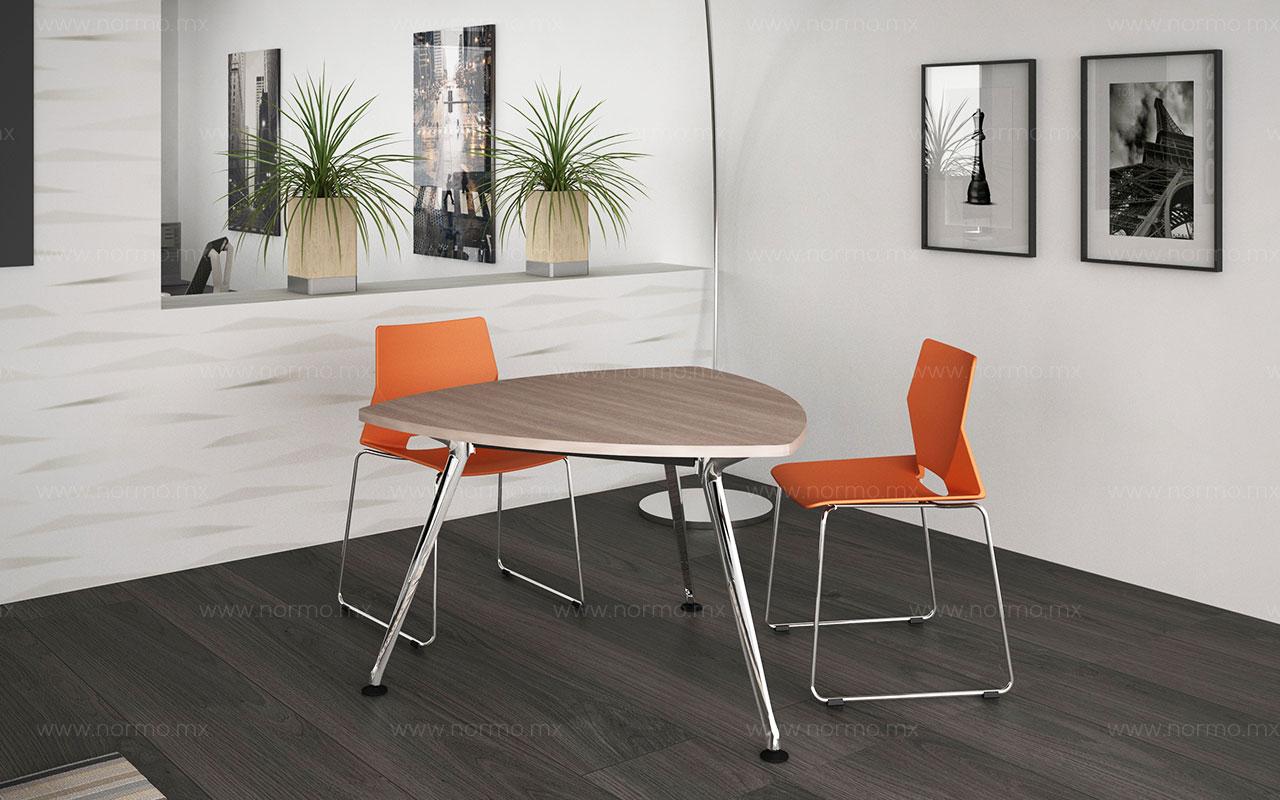 mesa de juntas con patas metalicas