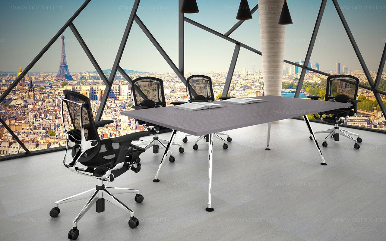 mesa de juntas de trabajo con patas metalicas