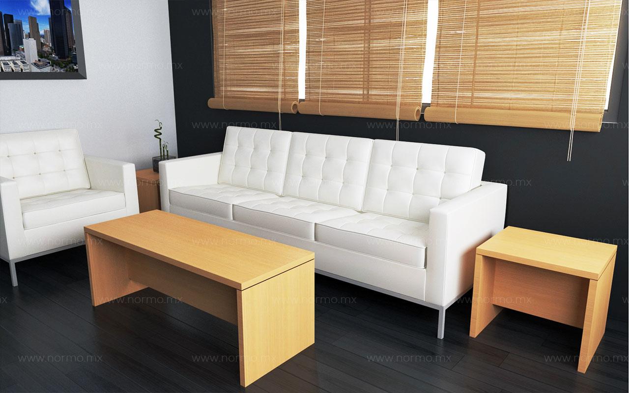mesas de espera con sofá