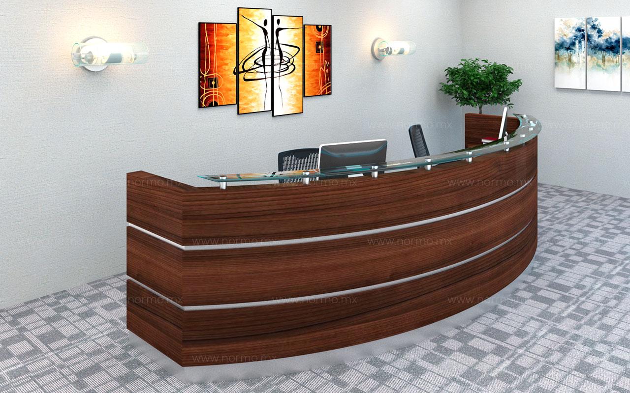 recepcion curva mueble de oficina en Monterrey