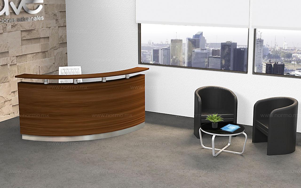 recepcion curva muebles de oficina
