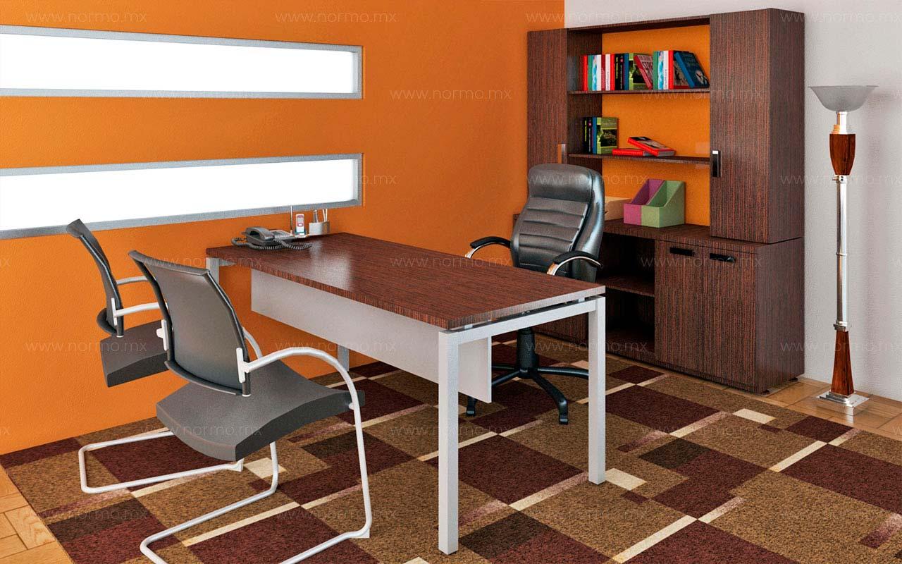 mesa de trabajo con librero